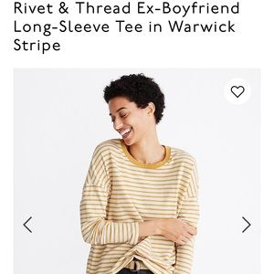 NWT Rivet & Thread Ex-boyfriend long sleeve tee